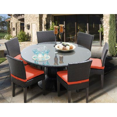 Sol 72 Outdoor Stratford 7 Piece Dining Set With Cushions 7