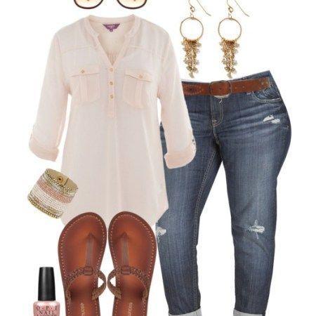 Plus Size Outfit Ideen Plus Size Boyfriend Jeans  Frauen Jeans  Ideen von Frauen…