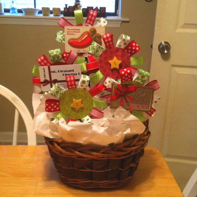 Gift card bouquet I made as a Christmas present!! | Gift ...