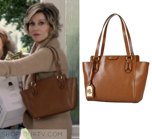 Grace Hanson Jane Fonda Wears This Brown Leather Bag In Episode Of