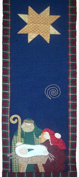 CMN-003 -Camino de mesa navideño en yute con aplicación en paño lency