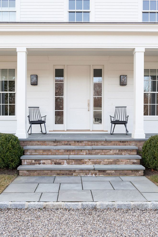 Love The Combination Of Stone And Brick Steps New England