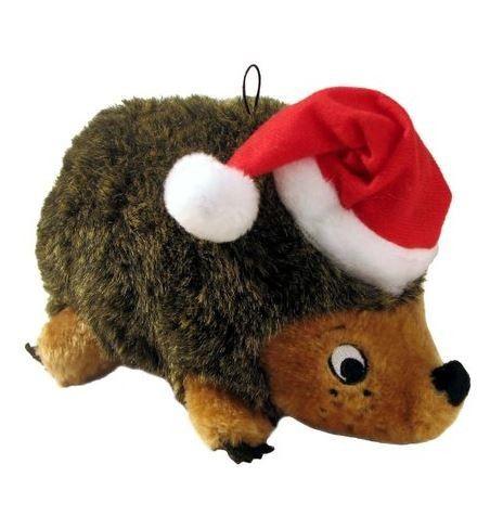 Plush Puppies Holiday Plush Dog Toy Santa Hedgehog Large Dog