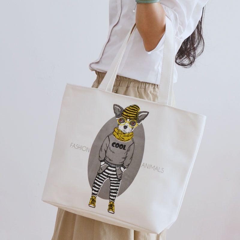 Cartoon animal print Tote bag Другие холщовые сумки с интересными принтами смотрите здесь http://blogosum.com/posts/promo-sumki и здесь http://www.prospero.spb.ru/index.php/articles/43.html