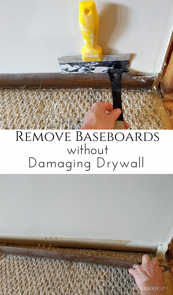 How to Remove Baseboards without damaging drywall.