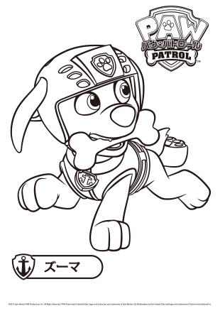 ぬりえ パウ パトロール paw patrol タカラトミー パウパトロール アリエル 塗り絵 ぬり絵