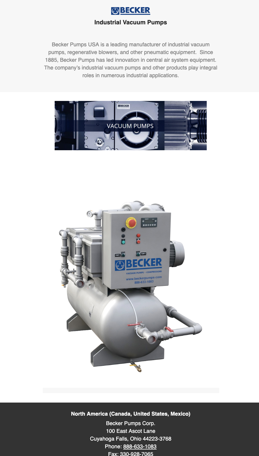Becker S Industrial Vacuum Pumps Can Maximize The Safety And