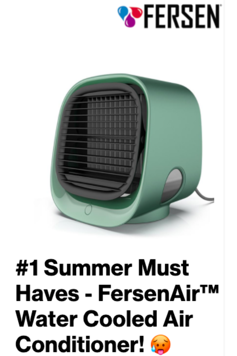 Stop Sweating This Summer Fersenair Water Cooled Air Conditioner In 2020 Evaporative Air Cooler Water Cooling Portable Air Conditioner