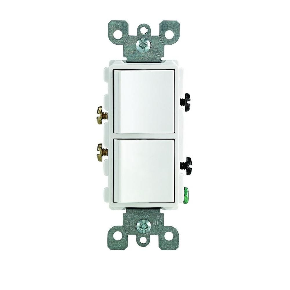 Double rocker light switch wiring diagram free download wiring leviton decora 15 amp single pole dual switch white bathroom double pole thermostat wiring diagram swarovskicordoba Gallery