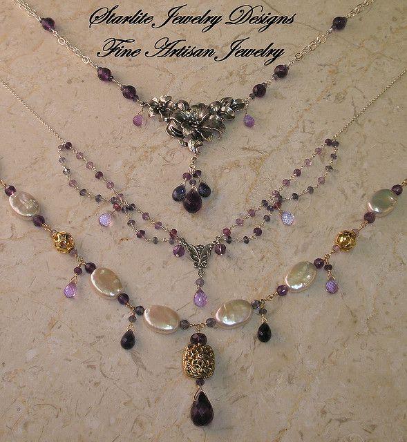 Starlite Jewelry Designs Briolettte Necklace Handmade Fashion