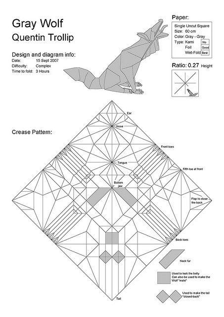 origami wolf tuto