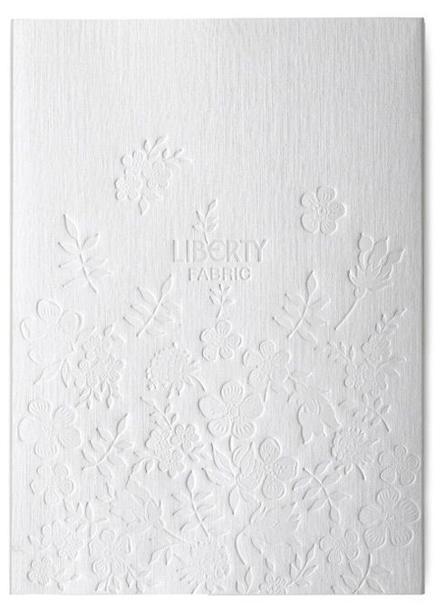 *~* // Liberty brand book // by Studio Thompson // via blogpost lovely — SIMPLESONG #embossed #floral