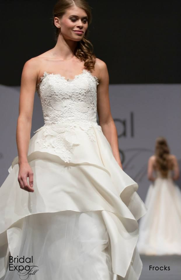 Layered wedding gown, Frocks Modern. 2014 Calgary Bridal Expo ...