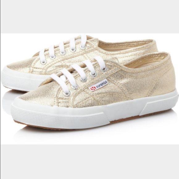 Superga Gold Glitter Sneakers size 37