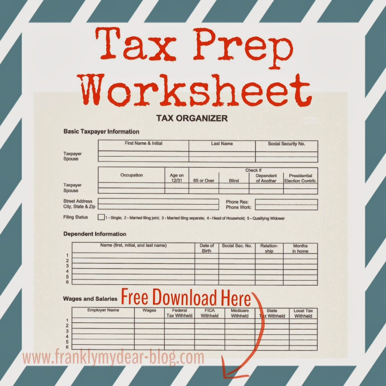 Printable Tax Prep Worksheet