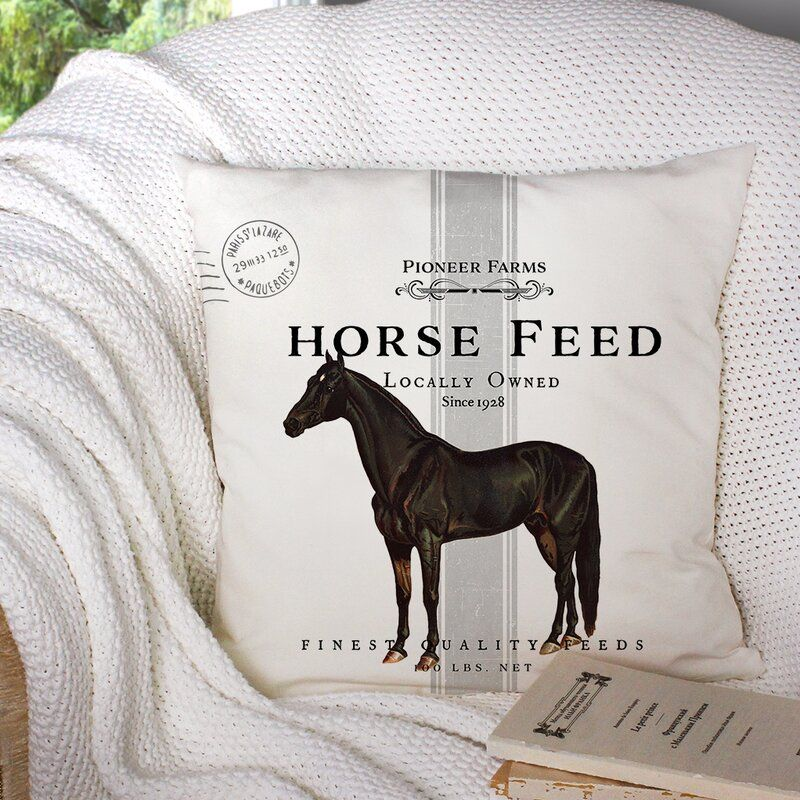 Equestrian Throw Pillows For Your Home Horses Heels Horse Throw Pillows Horse Feed Horse Pillow