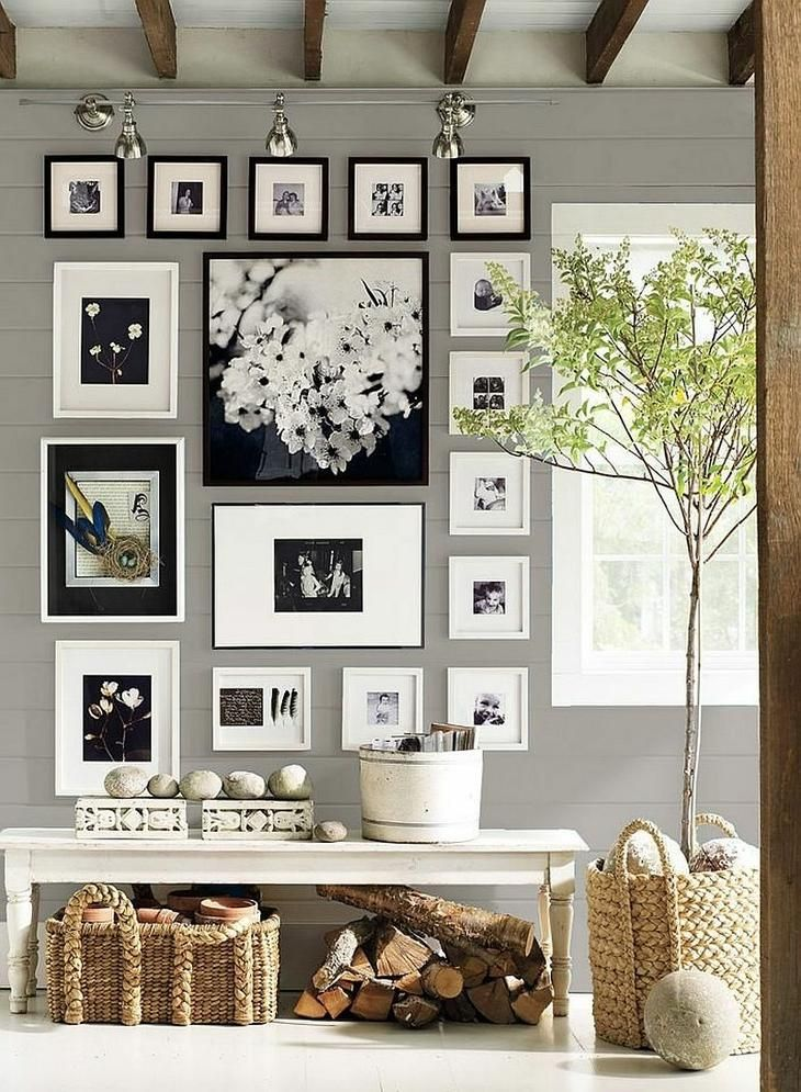 Большие фото на стену. Как развесить фото на стене | Идеи ...