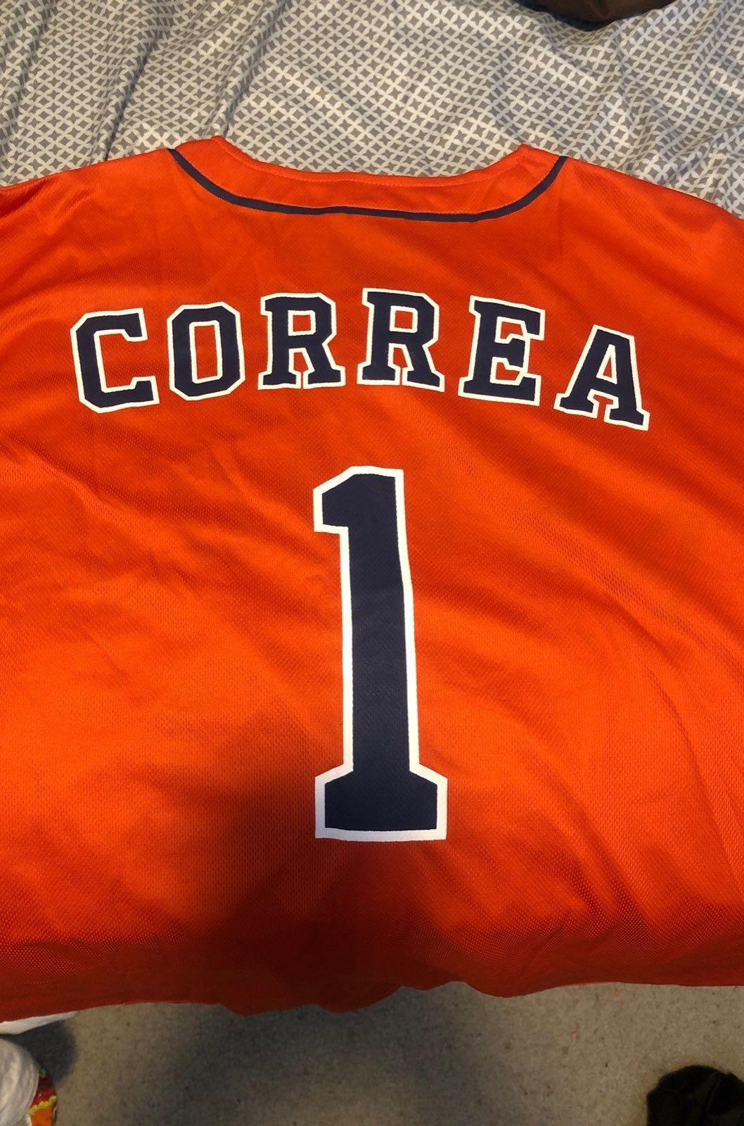 the best attitude b1e73 4e35c Carlos Correa orange replica jersey Houston Astros SGA XL ...