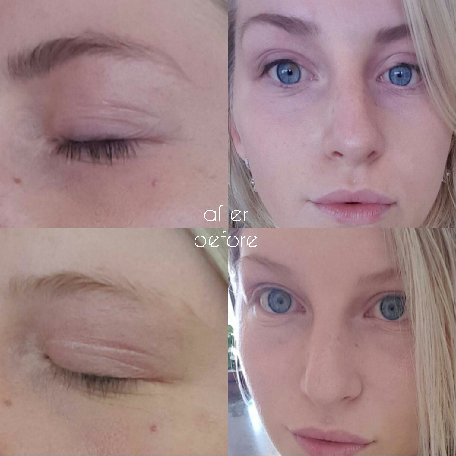 Blonde Problems Brow Lash Tinting Before And After Blonde
