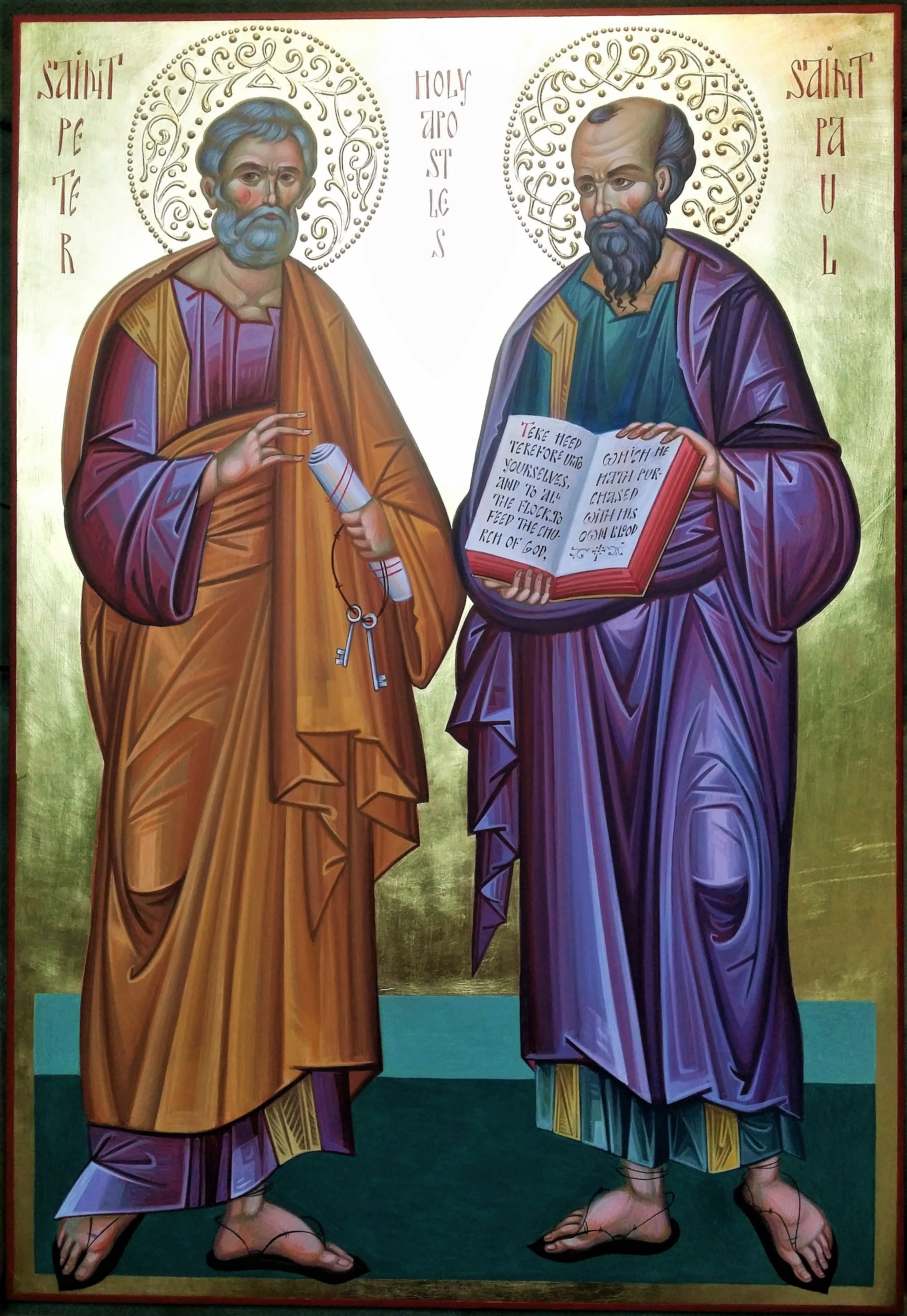 St Peter and St Paul icon hand painted by Chimev