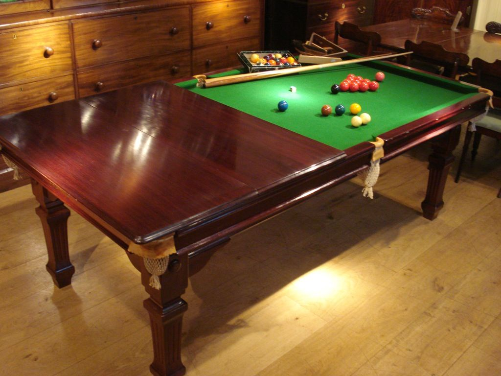 Edwardian Period 8 Foot Mahogany Riley Snooker Dining Table Think Of The Joy Snookers And Dining What A Party Antique Dining Tables Dining Table Dining