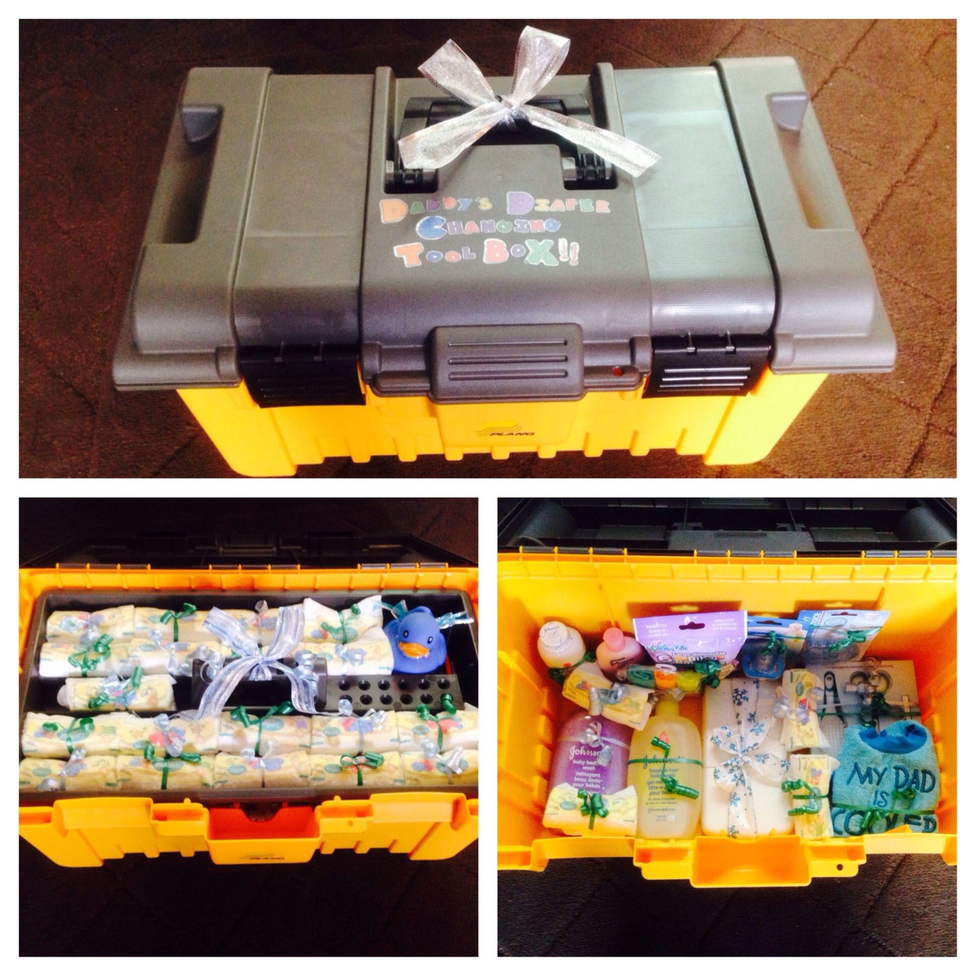 Daddy S Diaper Changing Tool Box I Made For My Husband For