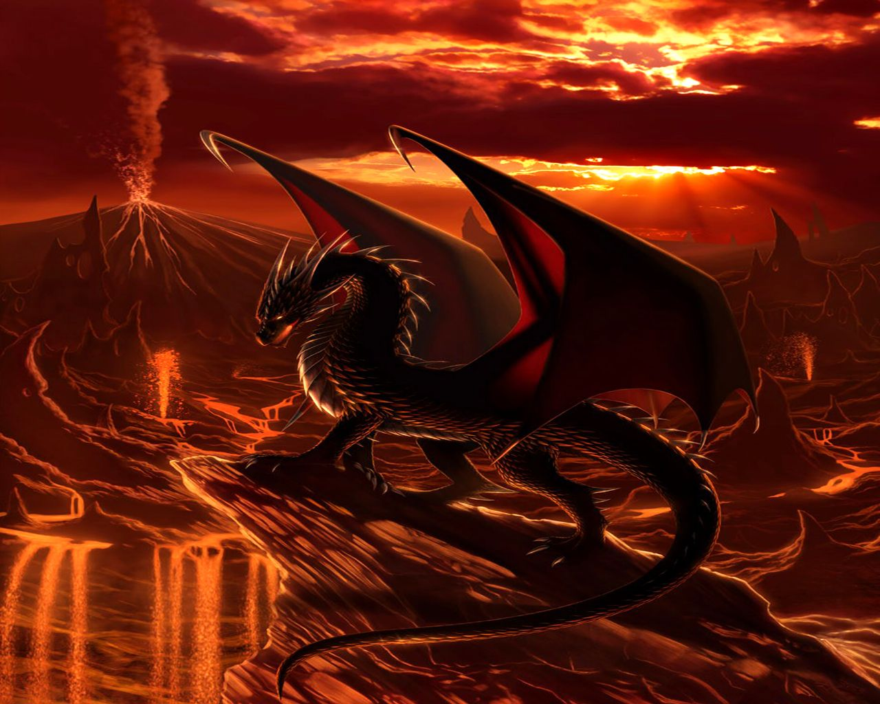 Fire Dragon Wallpaper Background with High Resolution Wallpaper ...