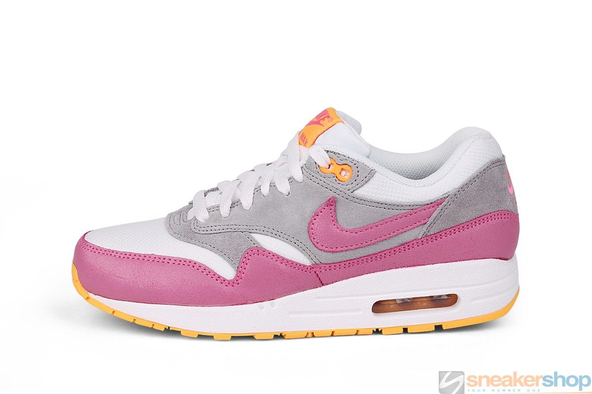 big sale 4c49a fbb4c Nike Wmns Air Max 1 Essential (White Pink Glow-Wolf Grey-Atomic Mango)    599820-107