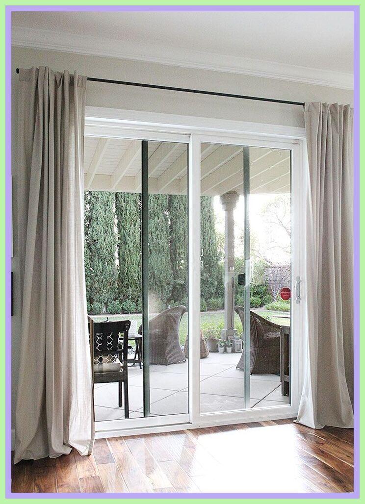 45 Reference Of Glass Door Curtains Decorative In 2020 French Doors Patio Door Coverings Sliding Doors Interior