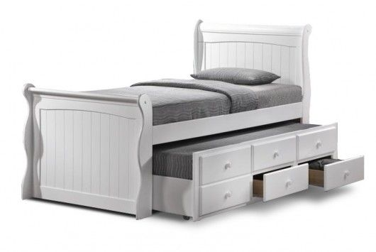 Save On The Sailor Sleigh Single Bed Frame With Trundle And