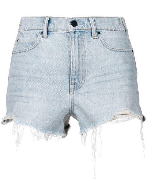 1a3bb528ac99 ALEXANDER WANG frayed denim shorts. #alexanderwang #cloth ...