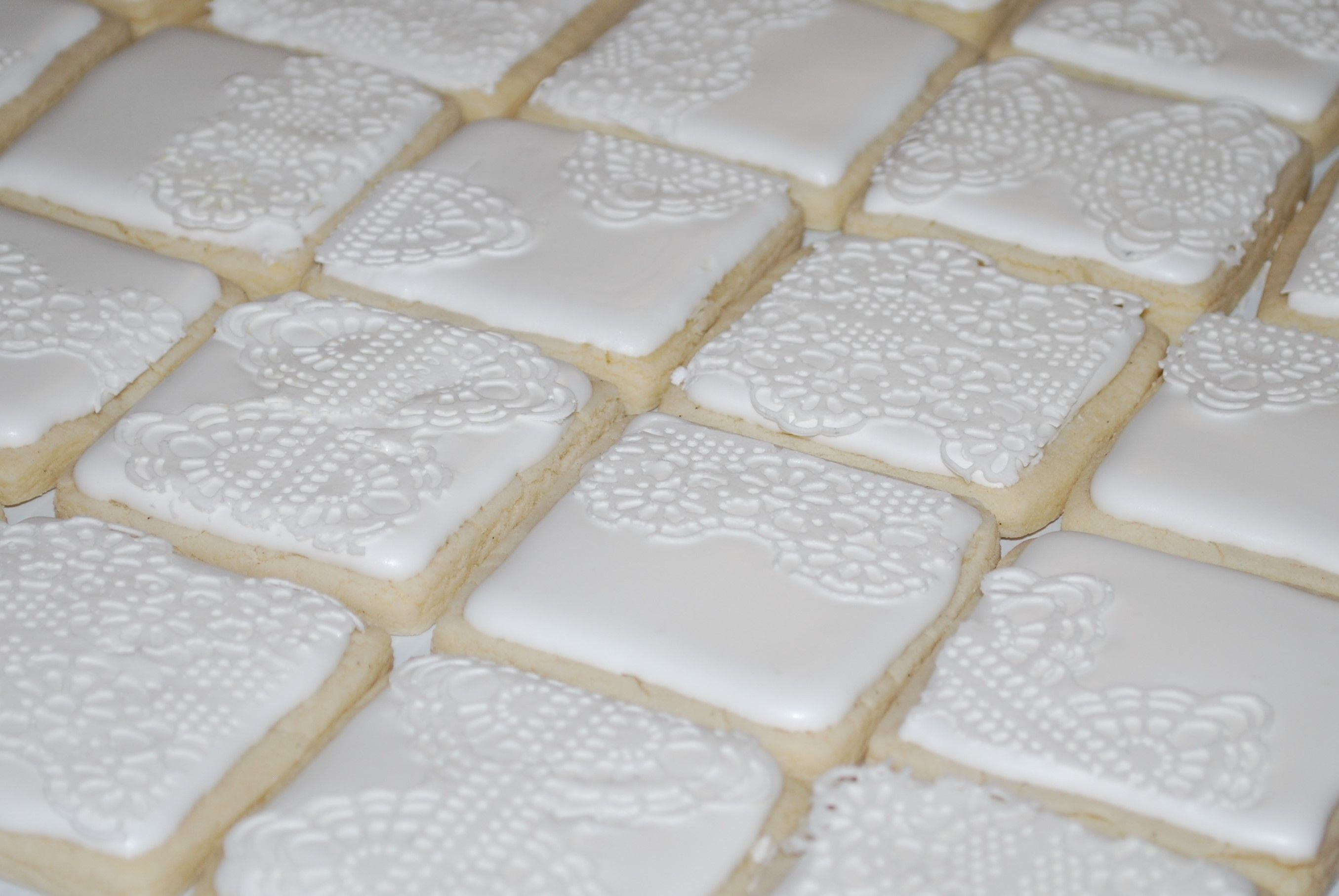 White Lace Cookies ~NutMeg Confections