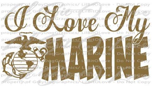 Download I Love My Marine Design 2 Vinyl Decal EGA Sticker USMC ...