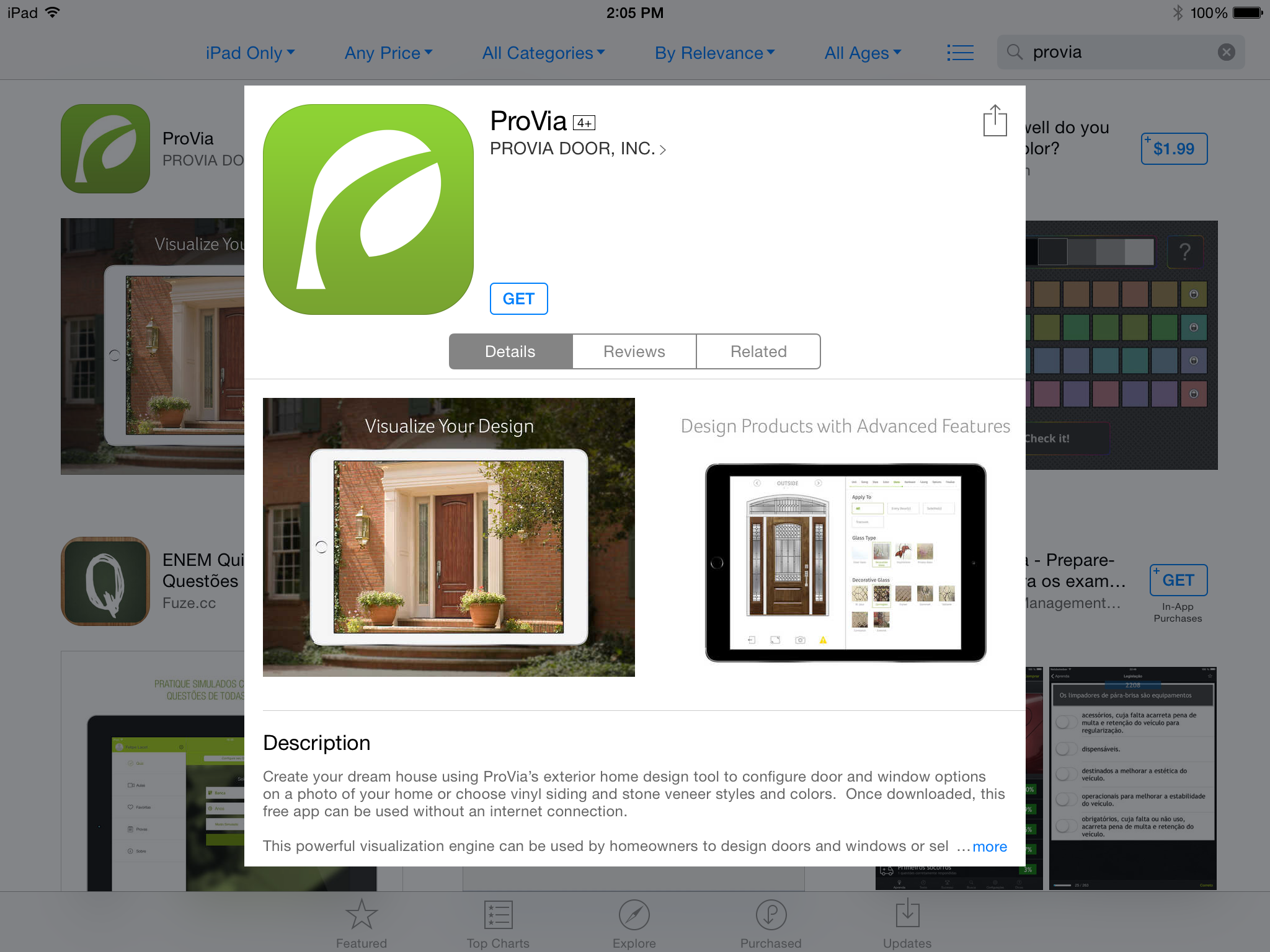ProVia\'s Home Exterior Design iPad App is free and easy-to-use to ...