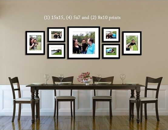 Great I Like The Arrangement Of Larger Pictures With The Same Frames, Above Dining  Room Table.