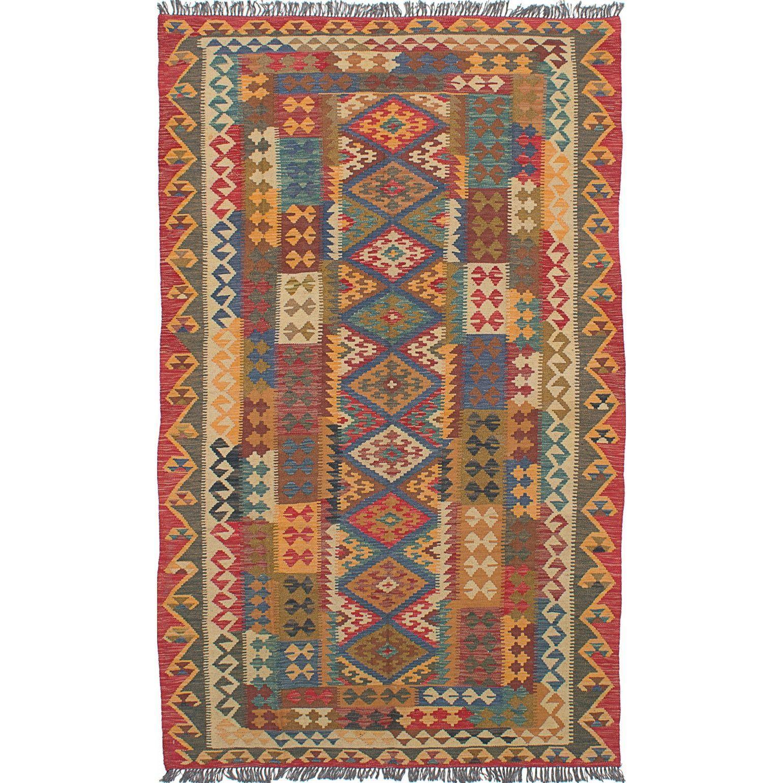 eCarpetGallery Sivas /Brown Hand-Woven Kilim Rug