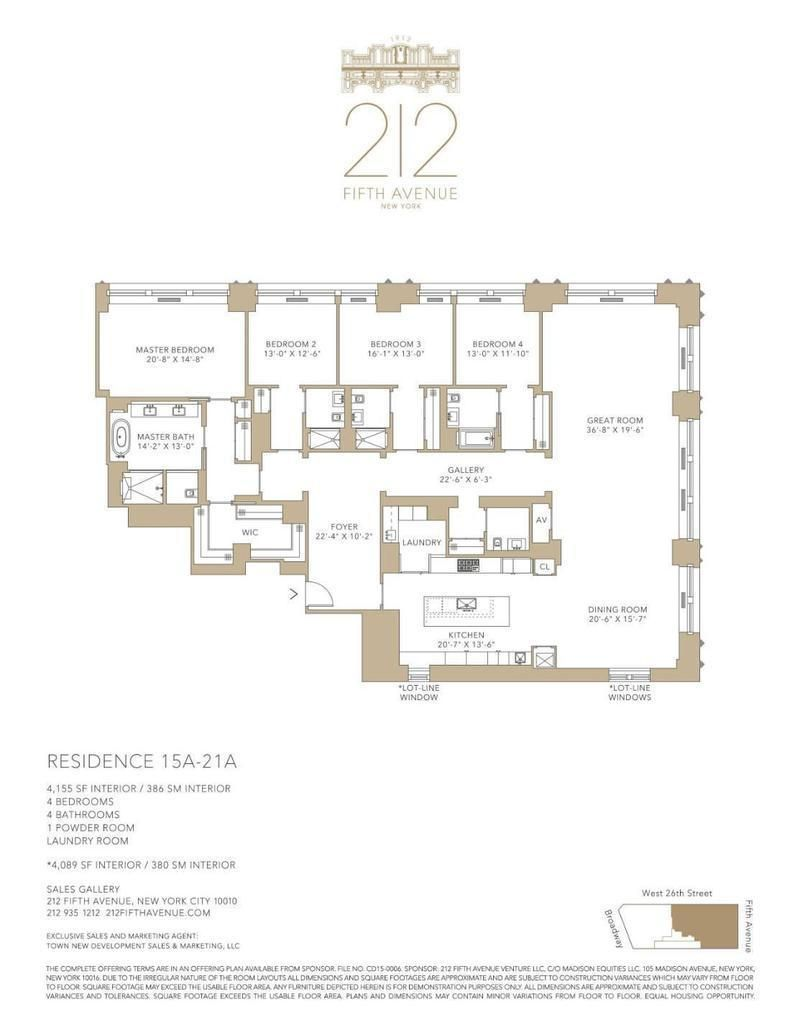 Floorplan For 212 Fifth Avenue 19ab Floor Plans City Living Apartment New York Apartments