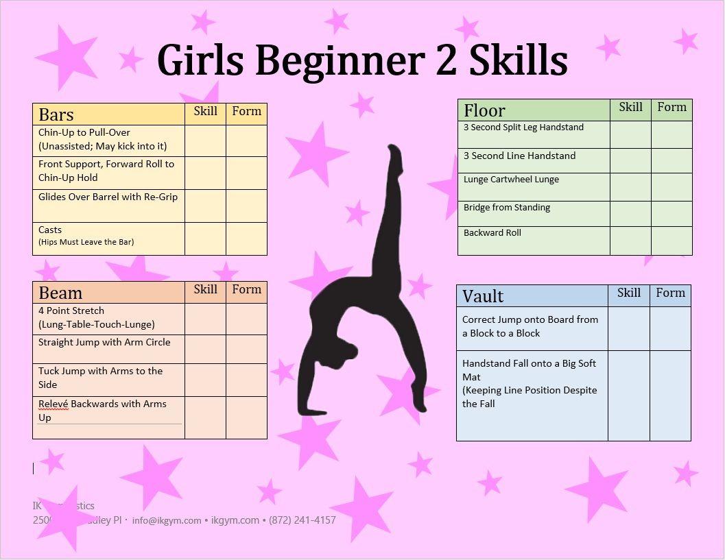 Abc Gymnastics Challenge List For Beginners