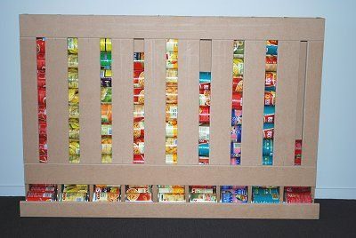 Food storage: How to make a canned food dispenser.