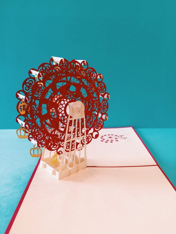 Ferris Wheel 3d Pop Up Card Heart Ferris Wheel Pop By 3dsurprises Pop Up Greeting Cards Cards Paper Art