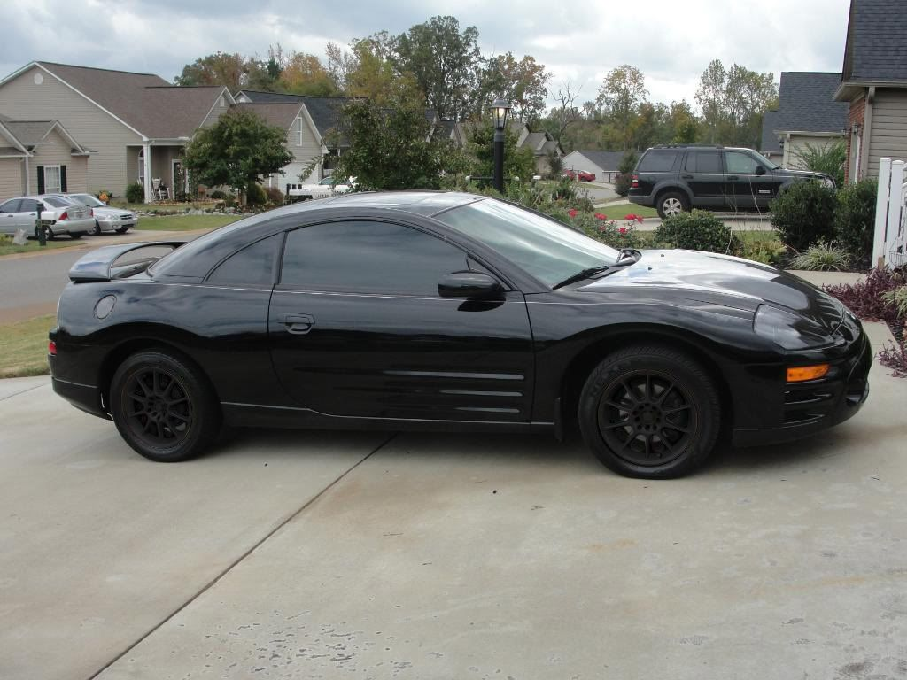 Mitsubishi Eclipse   Black With Black Rims