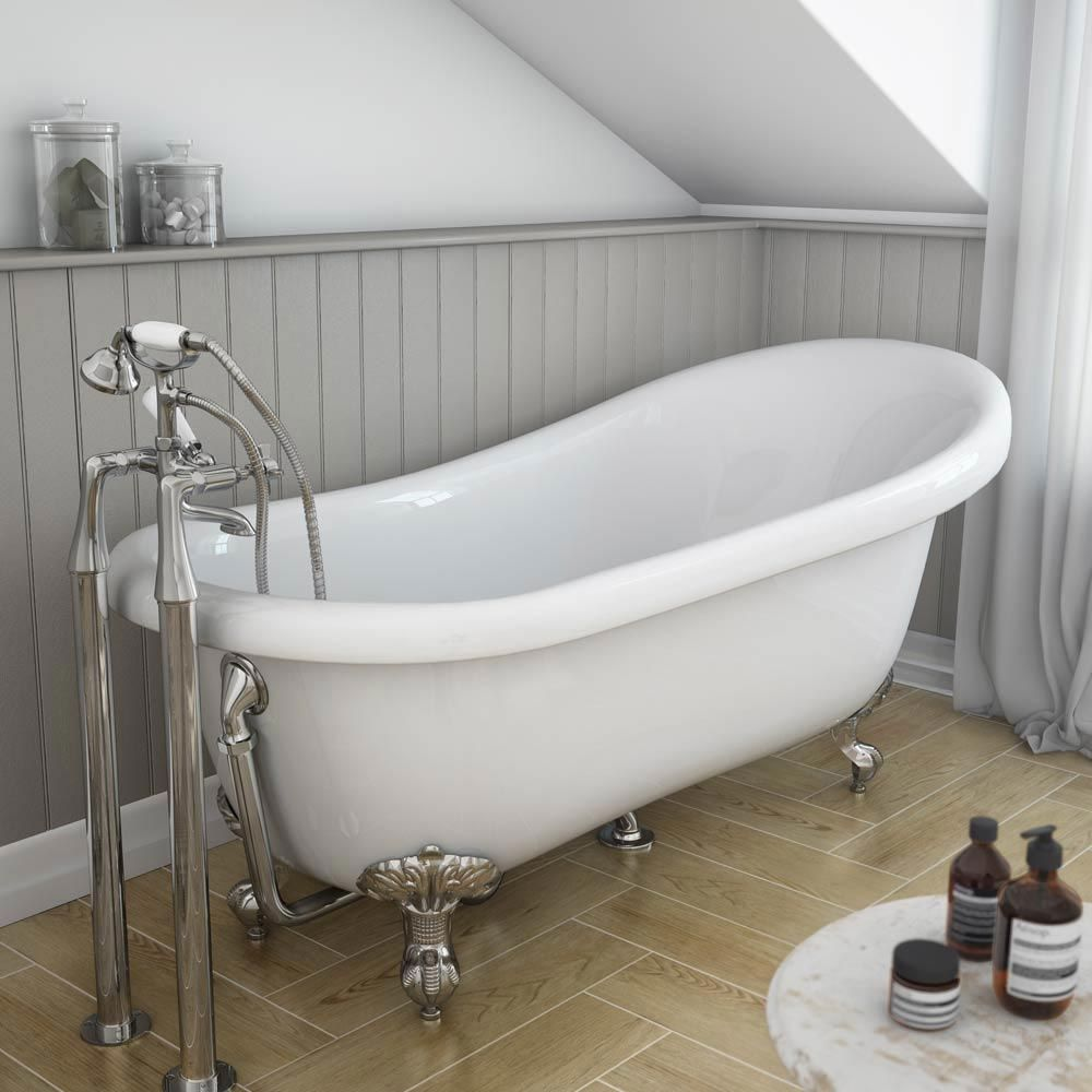 Astoria 1710 Roll Top Slipper Bath Chrome Leg Set