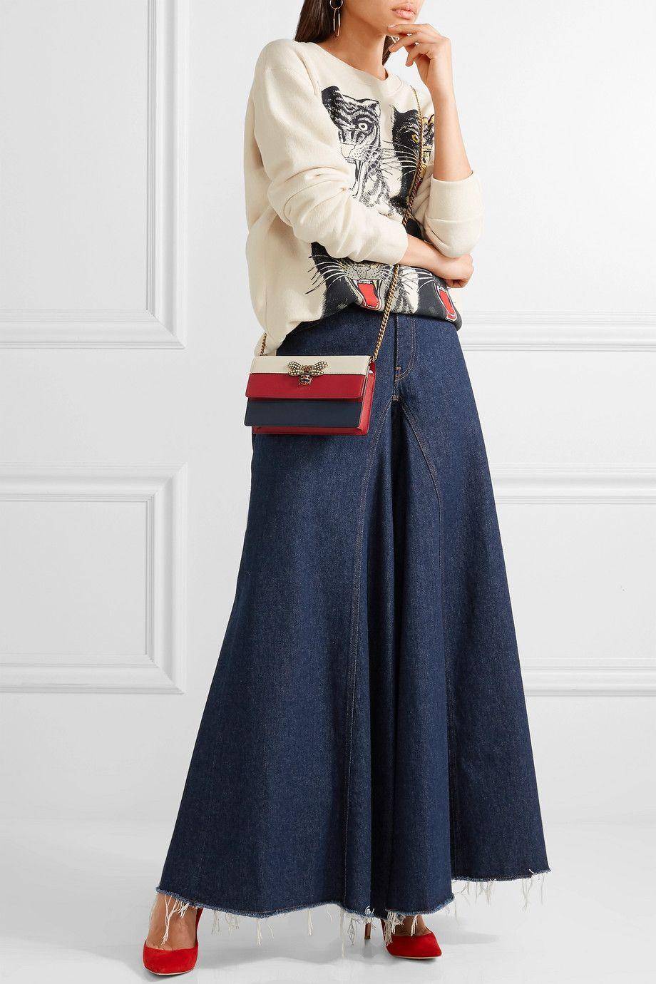 00f84d14315 Queen Margaret embellished leather shoulder bag  fashion  pandafashion   clutch  gucci