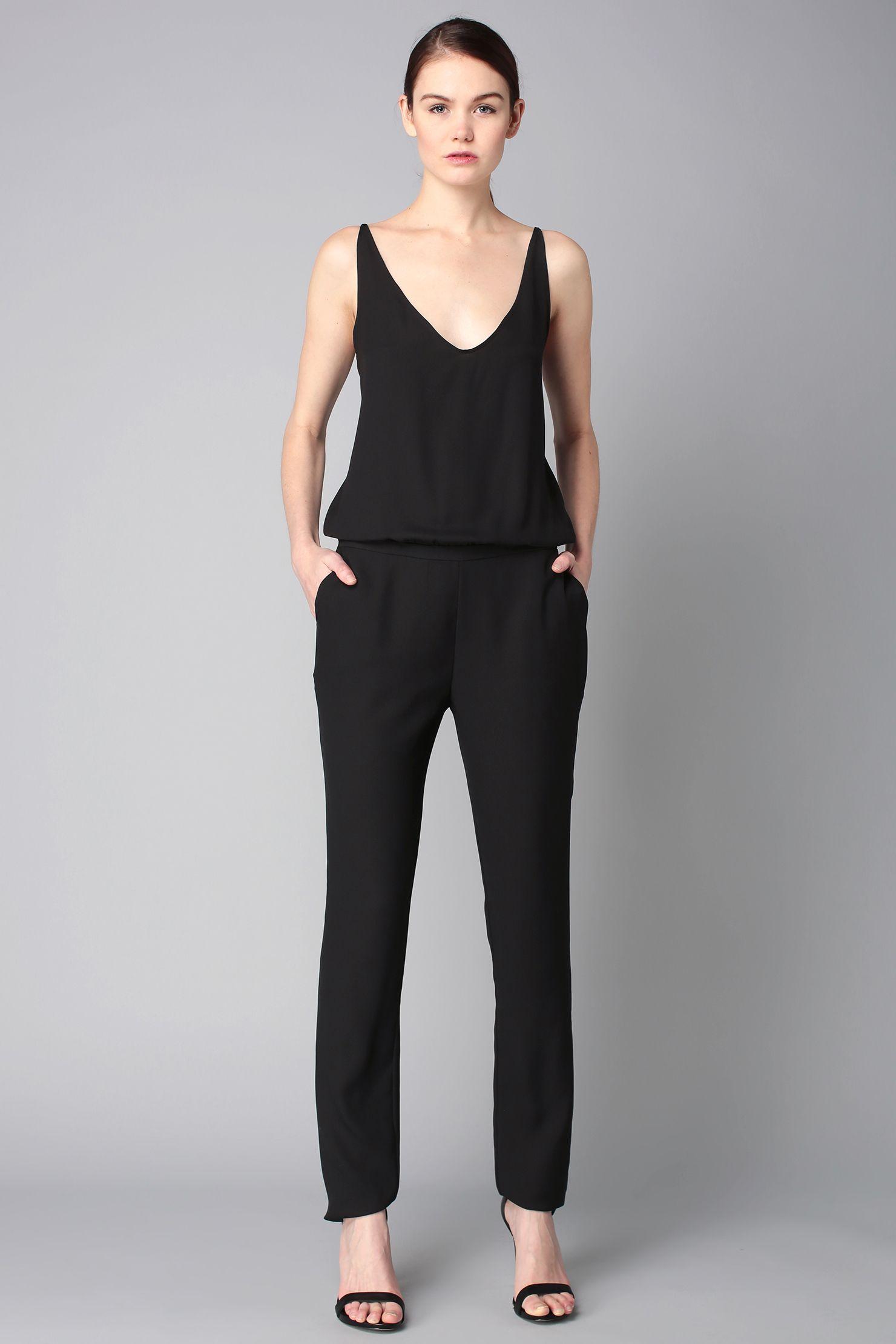 e2aca048ff7 Combi-pantalon noire dos dentelle Combi Plus