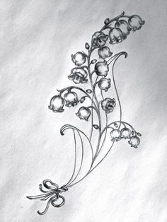 lydia 39 s tattoo sketch lilies of the valley tattoo pinterest sketches tattoo and tatting. Black Bedroom Furniture Sets. Home Design Ideas