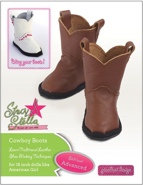 Leather Cowboy Boots 18\