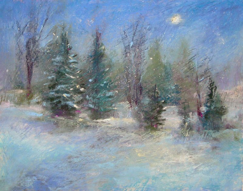 Painting my World: How to Paint Falling Snow with Pastels