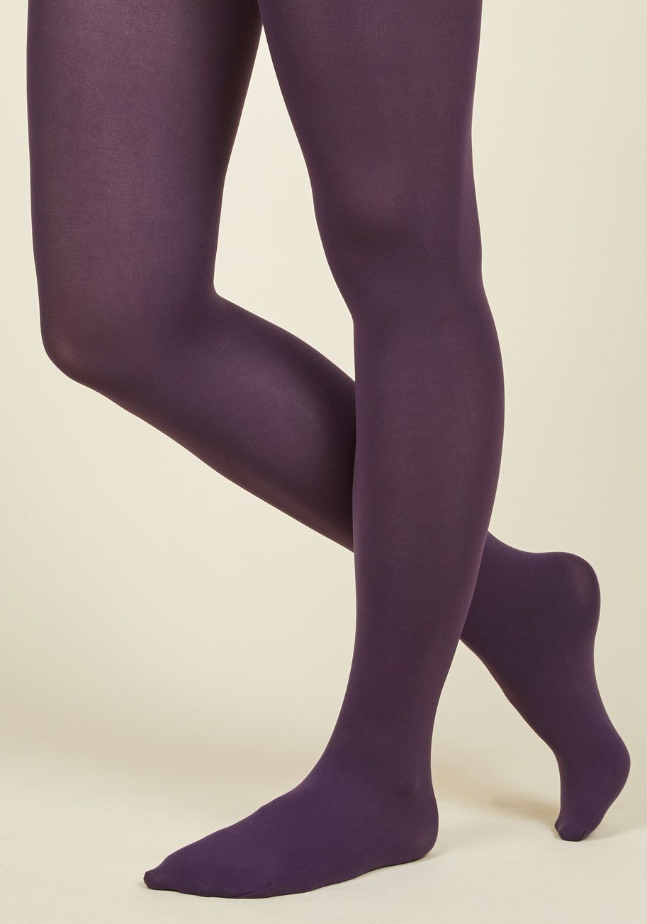 77a8b2308 Accent Your Ensemble Tights in Grape. Add a pop of color to your day by  pulling on these dark purple tights!  purple  modcloth