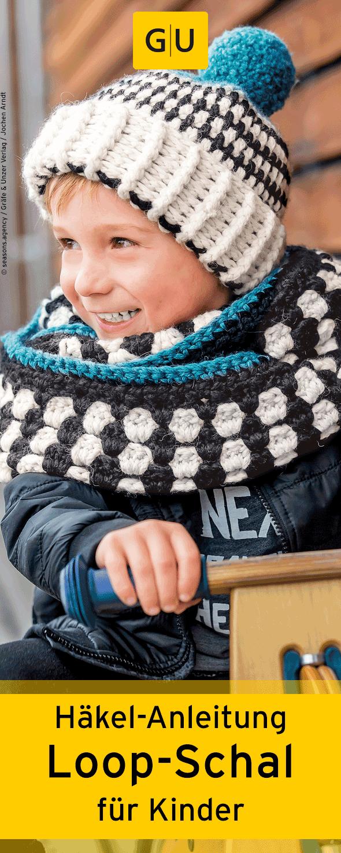 Praktische Häkel Anleitung Für Black White Loop Schal Für Kinder