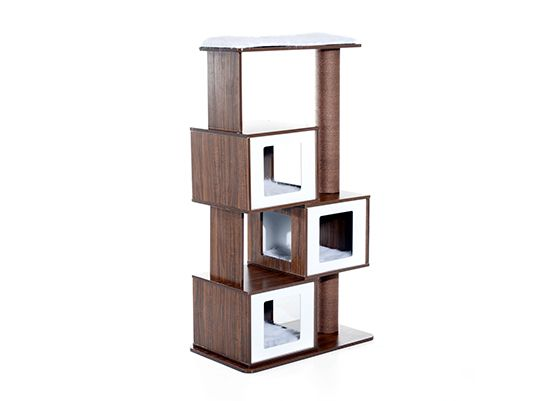 Modern Cat Tree From Pawhut Offers Great Style At An Affordable
